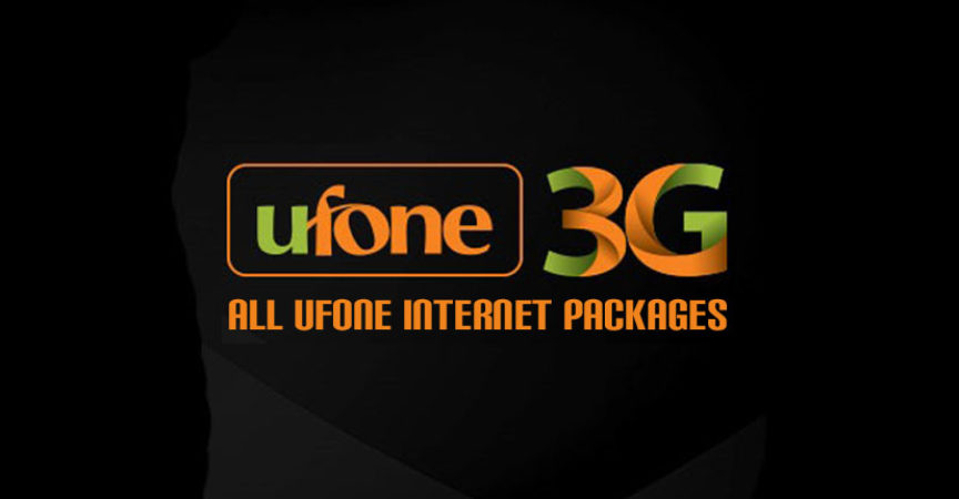 Ufone 3G Internet Packages: Daily, 3 Days, Weekly, Monthly 2019