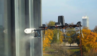 This Drone Is Cleaning Windows 1100 Feet Over the Ground