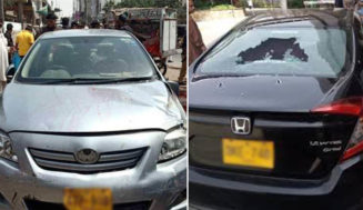 Three dead, two injured as assailants opened fire on two cars in Karachi