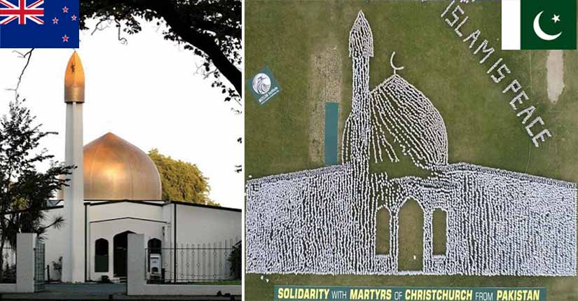 Over 20,000 people join hands to form Christchurch mosque shape