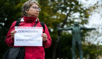 One-person protests in Moscow for free elections