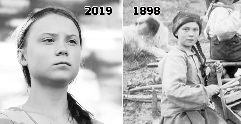 Greta Thunberg, time traveller? Girl in photo from 1898 resembles activist