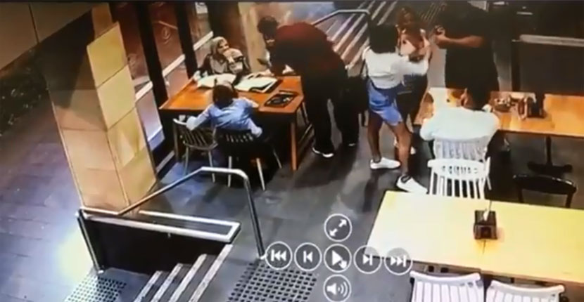 Pregnant Muslim woman bashed inside a cafe during a random racist attack