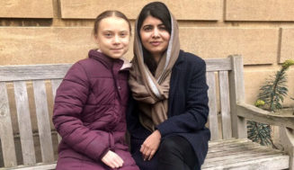 Nobel Prize Winner Malala, 22, takes a break from classes at Oxford University to meet climate activist Greta Thunberg, 17