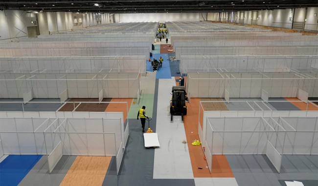 4,000 beds will be set up inside the ExCel center for covid-19 patients Credit: Crown Copyright