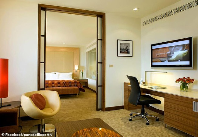 The starting price for a deluxe room at Perth's Pan Pacific hotel is $170 a night.