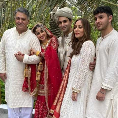 sajal with family on her wedding