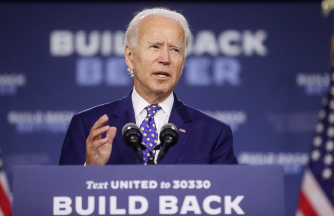 The links raise the question about whether Republicans hope West will be able to nab votes away from Joe Biden. Credit: Getty